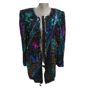 Laurence Kazer Sequin Jacket